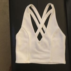 White Criss Cross Going Out Top